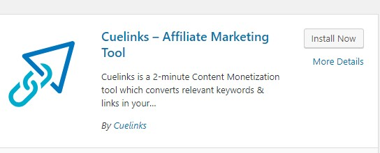 cuelinks on wordpress